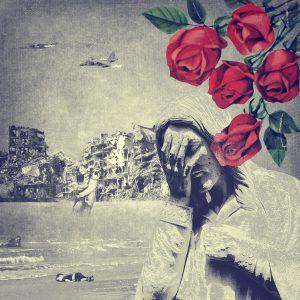 Jesus med rosor